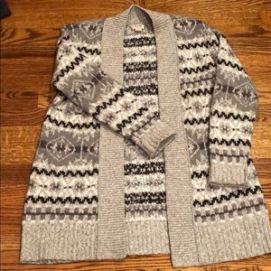Cozy Cardigan in Gray w/ Black Accents